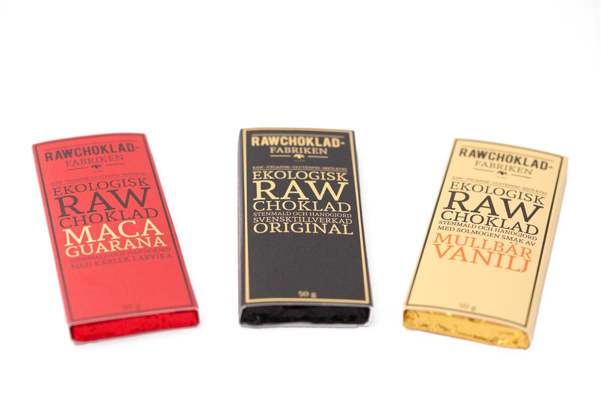 Produktfoton åt Raw choklad fabriken