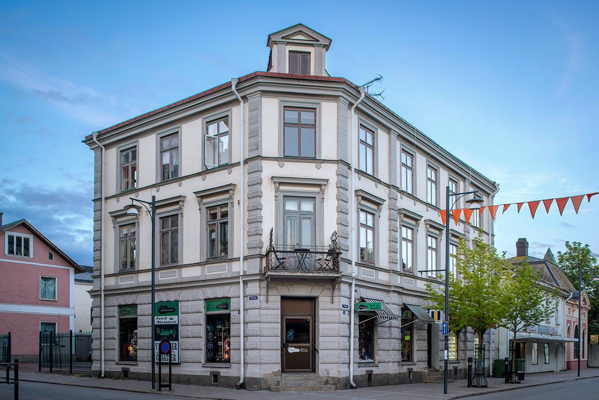 Exteriörfoto av komersiell fastighet i Arvika.
